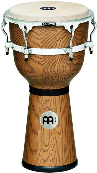 Meinl Percussion 12 inch Floatune Series Wood Djembe -Zebra Finished - DJW3ZFA-M